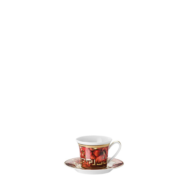 Espresso Cup and Saucer, 3 ounce | Versace Christmas Blooms