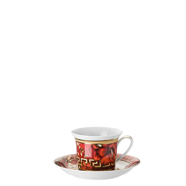 Cappuccino Cup and Saucer, 8 ounce | Versace Christmas Blooms