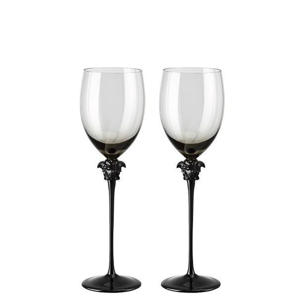 Red Wine Glass, set of two, 16 ounce | Versace Medusa Lumiere Haze