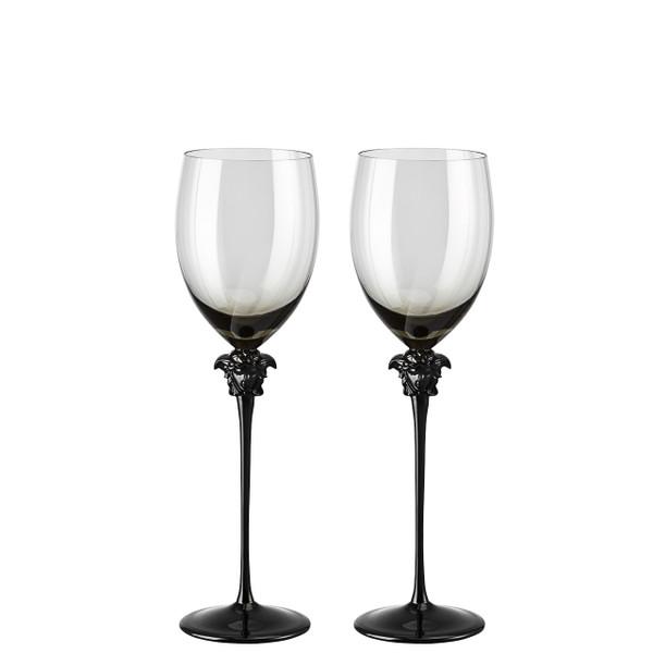 Red Wine Glass, set of two, 16 ounce | Versace Medusa Lumiere Haze