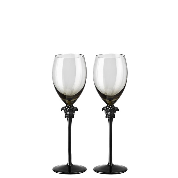 White Wine Glass, set of two, 11 ounce | Versace Medusa Lumiere Haze