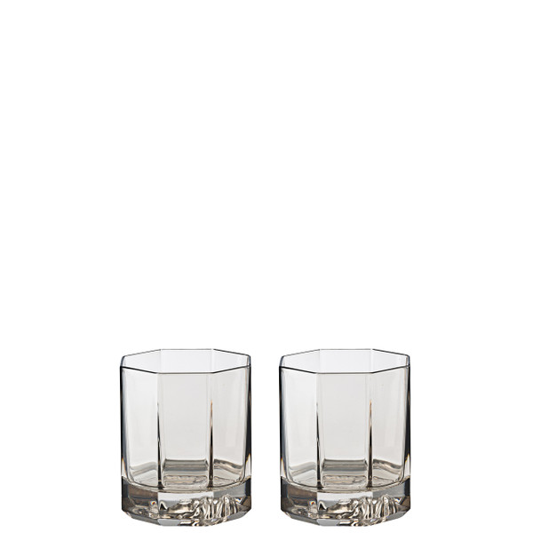 Whiskey Double Old Fashioned, set of two, 3 1/2 inch, 5 ounce | Versace Medusa Lumiere Haze
