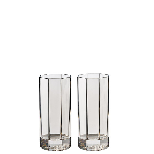 Longdrink Glass, set of two, 8 ounce | Versace Medusa Lumiere Haze