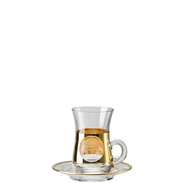 Tea glass, 2 pieces | Medusa Madness Oro