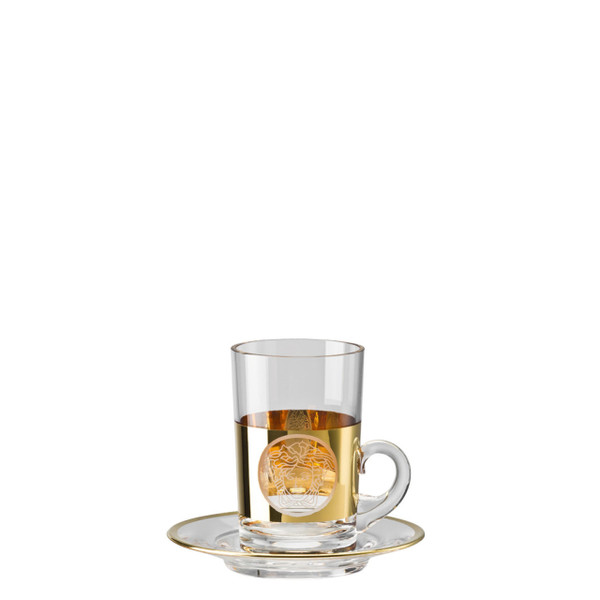Tea glass, 2 pieces, tall | Medusa Madness Oro