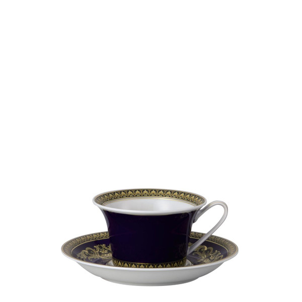 write a review for Tea Cup & Saucer, 6 1/4 inch, 7 ounce | Medusa Blue