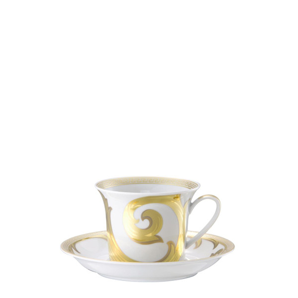 write a review for Cappuccino Cup & Saucer, 6 inch, 8 ounce | Arabesque Gold