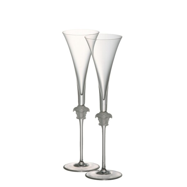 Champagne Flute, 12 inch, 6 ounce | Versace Medusa Lumiere