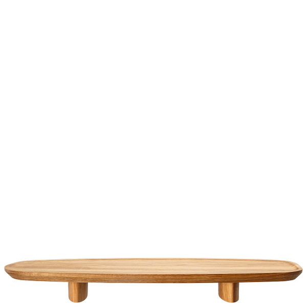 Footed Wood Tray, 17 3/4 x 6 1/3 inch | Junto