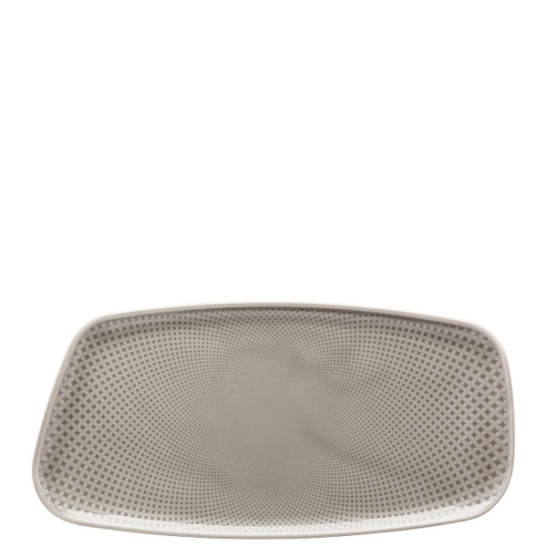 write a review for Platter, Rectangular, Pearl Grey, 11 3/4 x 6 inch | Junto