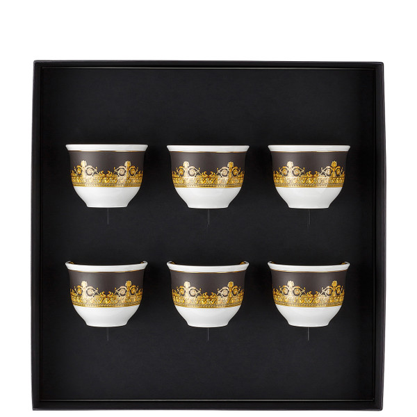 Set of 6 Mugs, Small, without Handle   I Love Baroque