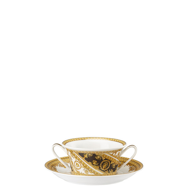 Cream Soup Cup and Saucer, 6 3/4 inch | I Love Baroque
