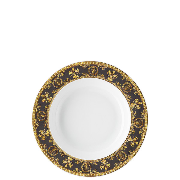 Rim Soup Plate, 8 1/2 inch | I Love Baroque Nero
