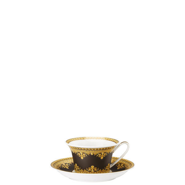 write a review for Tea Cup and Saucer, 6 1/4 inch | I Love Baroque Nero
