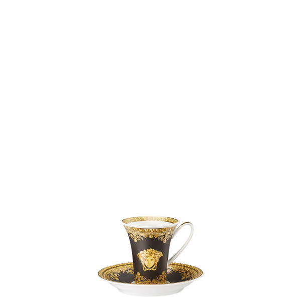 Espresso Cup and Saucer, 5 inch | I Love Baroque Nero