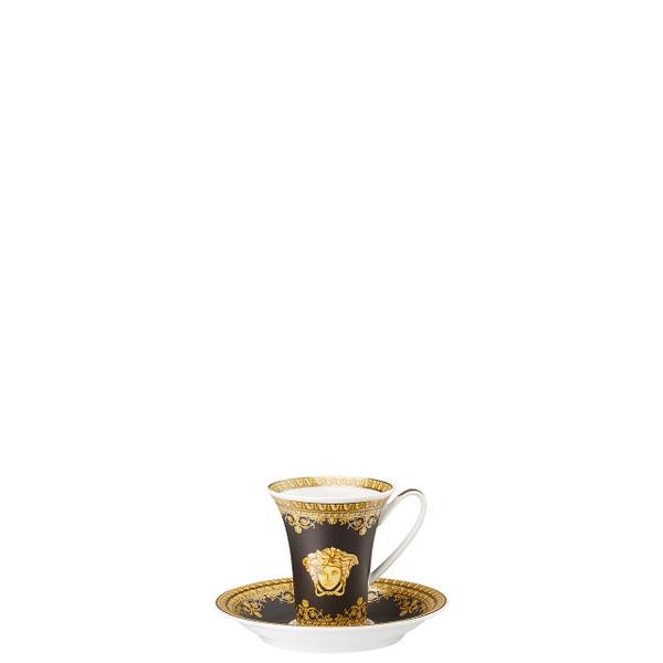 Espresso Cup and Saucer, 5 inch | I Love Baroque Nero