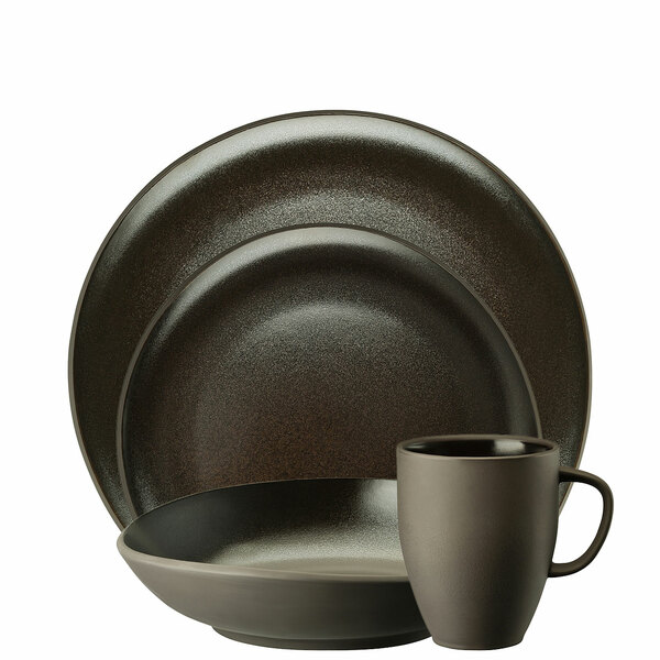 4 Piece Place Setting, Slate Grey | Junto