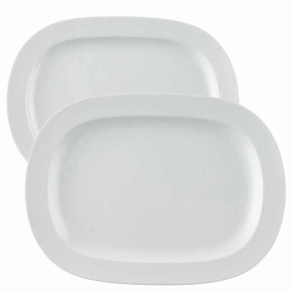 Platter Set, 2 pieces | Vario White