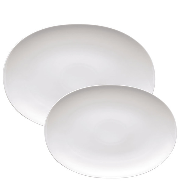 Platter Set, 2 pieces | Medaillon White