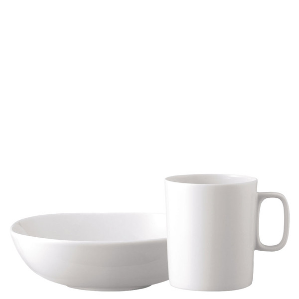 Breakfast Set (mug & bowl) | Moon White