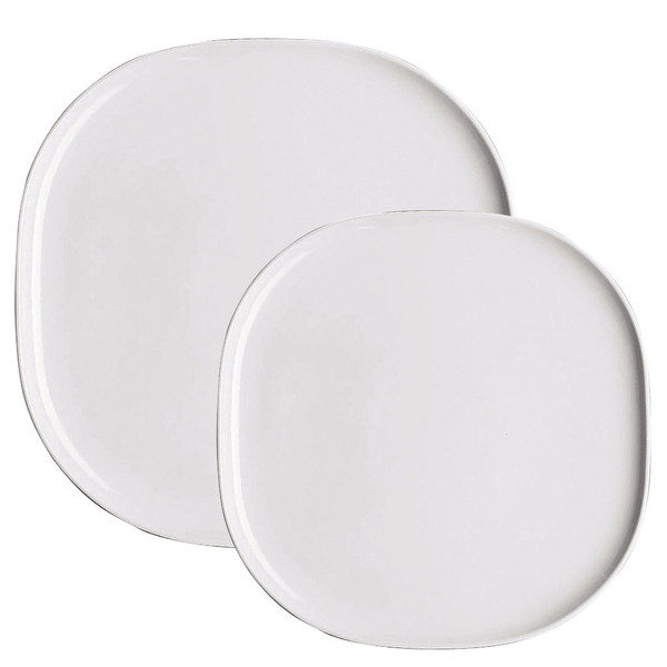 Platter Set, 2 pieces | Moon White
