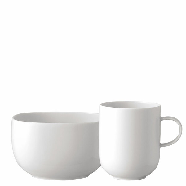 Breakfast Set (mug & bowl) | Suomi White