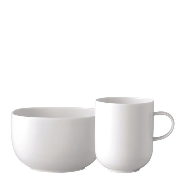 Breakfast Set (mug & bowl) | Suomi White