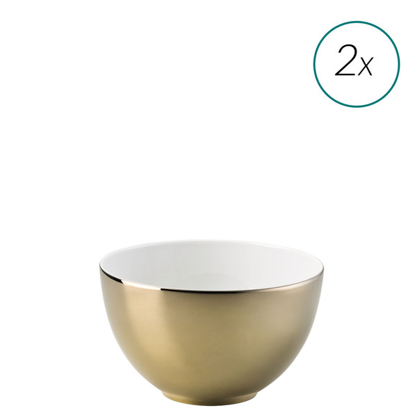 Cereal Bowls Set, 2 pieces, 6 inch, 28 ounce | TAC 02 Skin Gold