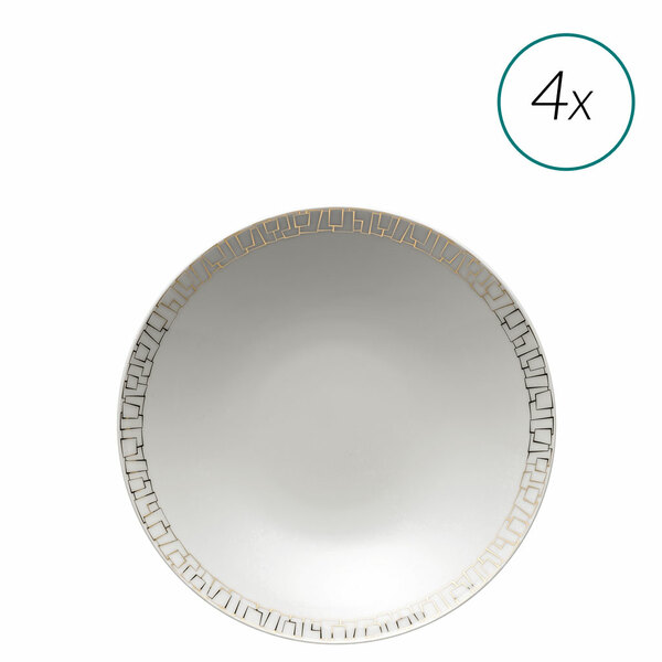 Soup Plates Set, 4 pieces, 9 1/2 inch | TAC 02 Skin Gold