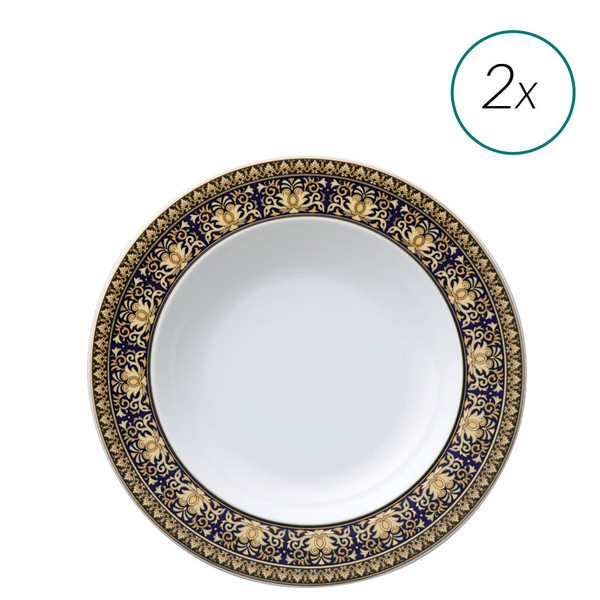 Soup Plates Set, 2 pieces, 8 1/2 inch | Medusa Blue