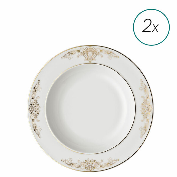 Soup Plates Set, 2 pieces, 8 1/2 inch | Medusa Gala