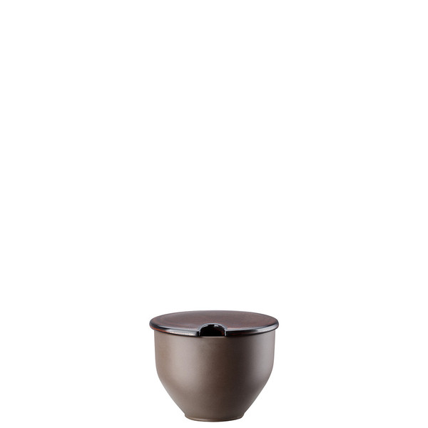 Sugar Bowl with Indent, Bronze, 8 1/2 ounce | Junto Stoneware