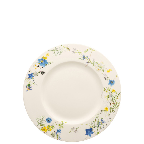 write a review for Plate with Rim, 9 inch | Brillance Fleurs des Alpes