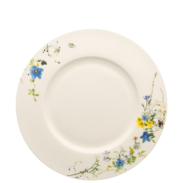 write a review for Plate with Rim, 11 inch | Brillance Fleurs des Alpes