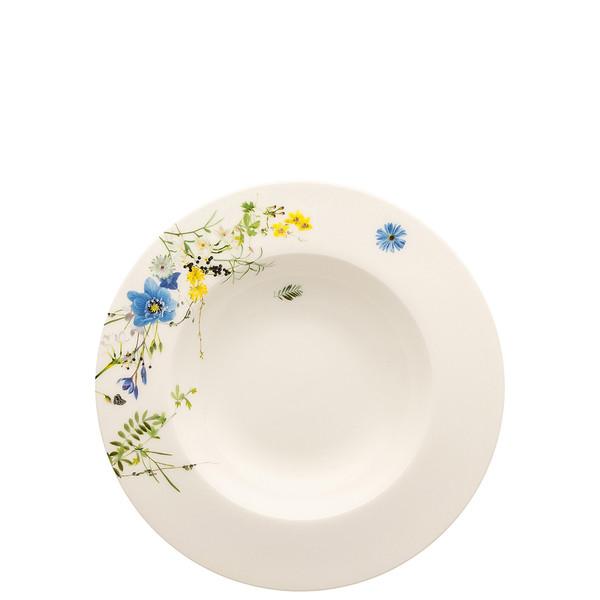 Plate, Deep with Rim, 9 inch | Brillance Fleurs des Alpes
