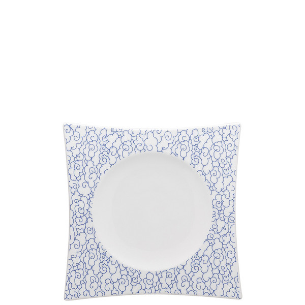 Accent Plate Square, 7 3/4 inch | Moon Cipango Blue