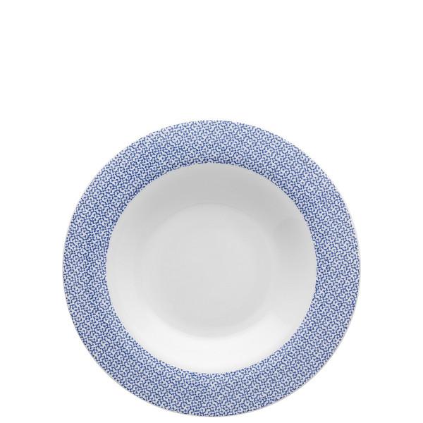 Rim Soup, 9 1/2 inch   Moon Cipango Blue