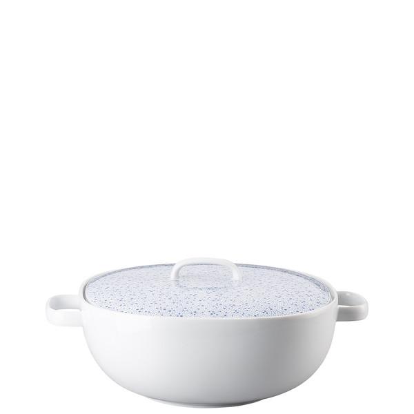 Vegetable Bowl, Covered, 68 ounce   Moon Cipango Blue