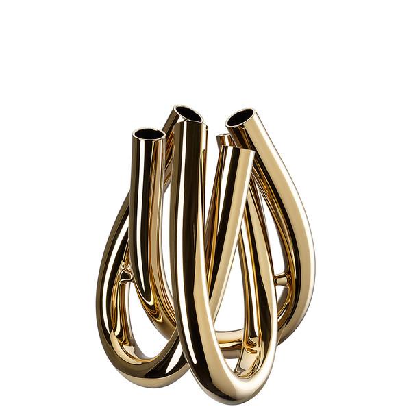 Vase , Gold, 8 1/2 inch | Triu