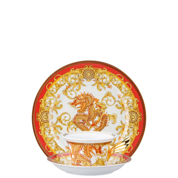 Tea Cup, Tea Saucer & Dessert Plate Set, 3 pieces | 25 Years Asian Dream