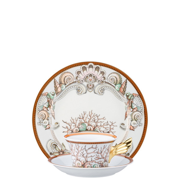 Tea Cup, Tea Saucer & Dessert Plate Set, 3 pieces | 25 Years Etoiles de la Mer