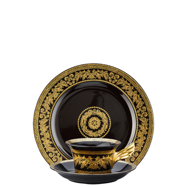 Tea Cup, Tea Saucer & Dessert Plate Set, 3 pieces | 25 Years Gold Baroque