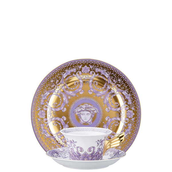 Tea Cup, Tea Saucer & Dessert Plate Set, 3 pieces | 25 Years Le Grand Divertissement Gold