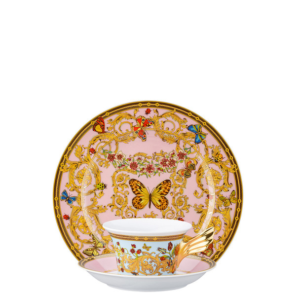 Tea Cup, Tea Saucer & Dessert Plate Set, 3 pieces | 25 Years Le Jardin de Versace