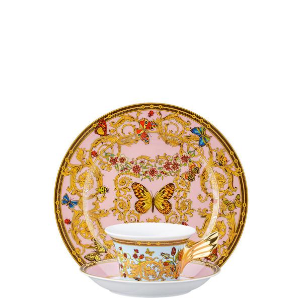 Tea Cup, Tea Saucer & Dessert Plate Set, 3 pieces | 25 Years Le Jardin de Versace