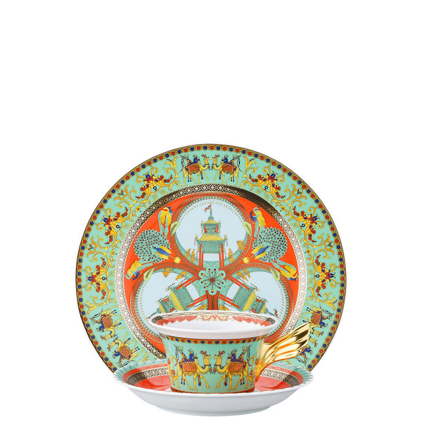 Tea Cup, Tea Saucer & Dessert Plate Set, 3 pieces | 25 Years Marco Polo