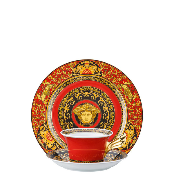 Tea Cup, Tea Saucer & Dessert Plate Set, 3 pieces | 25 Years Medusa