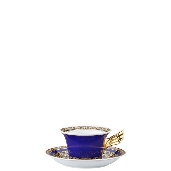 Tea Cup & Tea Saucer | 25 Years Medusa Blue