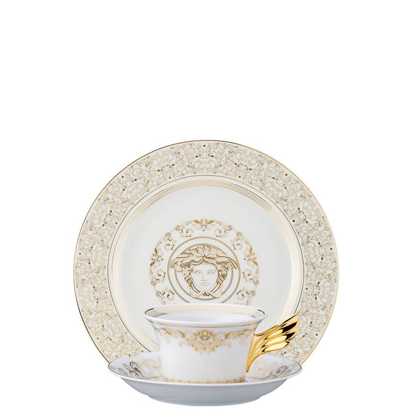 Tea Cup, Tea Saucer & Dessert Plate Set, 3 pieces | 25 Years Medusa Gala