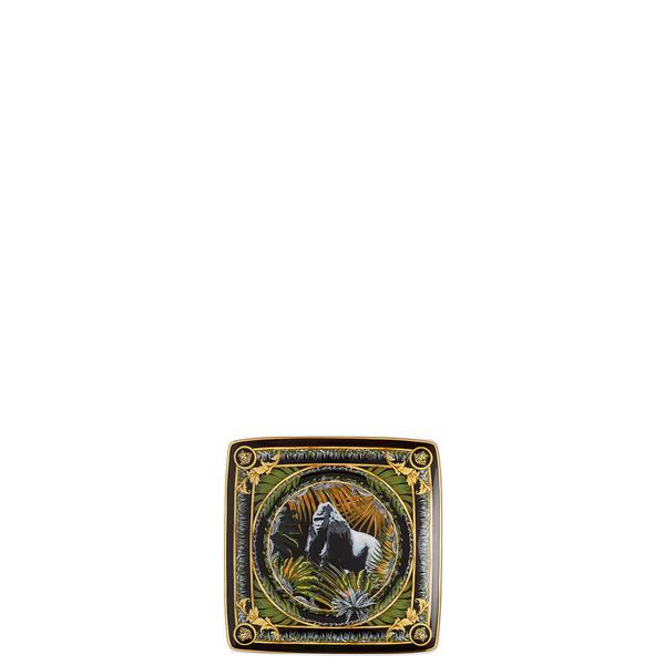 Canape Dish, Square, Bob, Gorilla, 4 3/4 inch | La Regne Animal